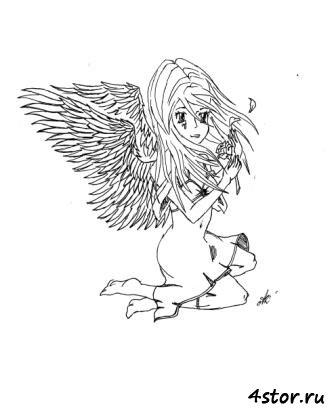 Ангел (в стиле манга)