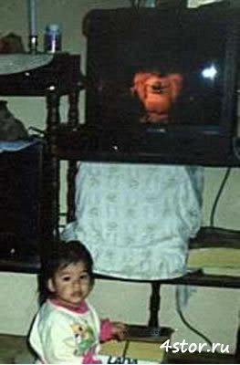 Во время съемки фотографии телевизор
