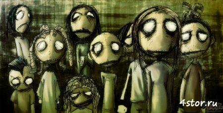 """Страшные рисунки """"кукол"""""""