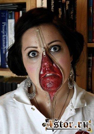 Лица на молнии - мода на этот Хэллоуин