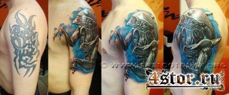 """Татуировки в стиле """"Чужой"""""""