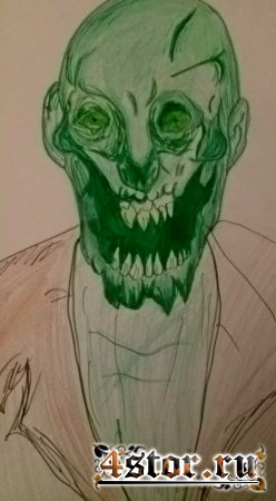 Страшный зомби