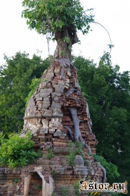 Заброшенный храмовый комплекс на озере Инле