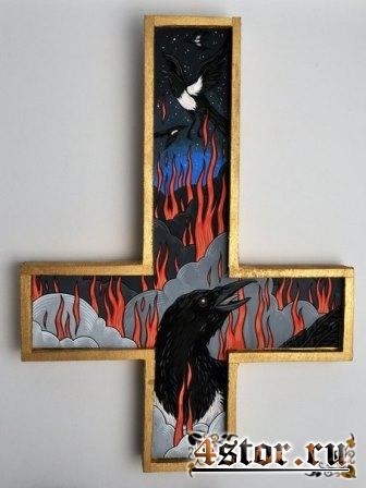 Украсили сатанинский крест мистикой
