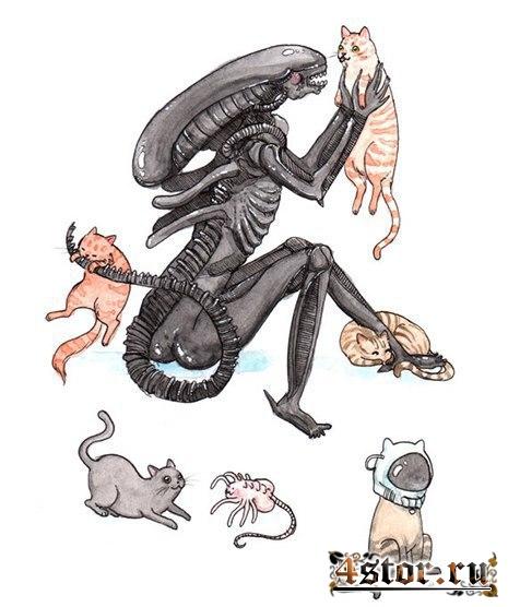 Даже монстры любят котиков