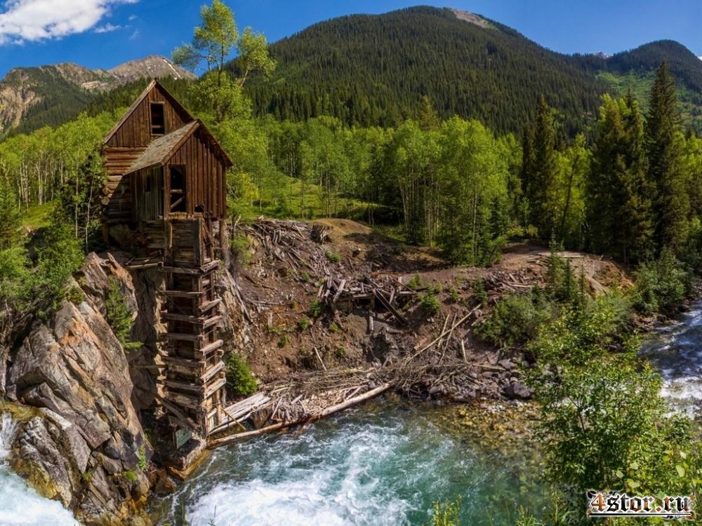 Бывшая электростанция в местечке Кристал, Колорадо, США
