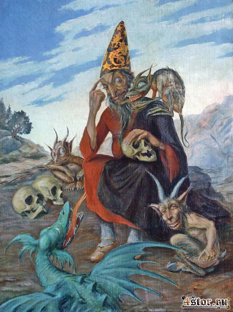 Чешский художник-символист и иллюстратор Алоис Богач (1885-1945)