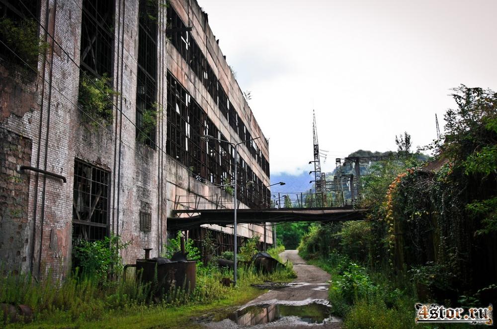 Ткуарчал. Шахтёрский город и заброшенная ГРЭС